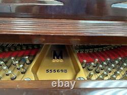 11170-401 Steinway Model M Crown Jewel Mahogany Grand Piano, Year 2000, Signed