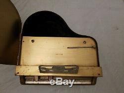 1940's Fada Model 182G Art Deco Brass Grand Piano Table Radio