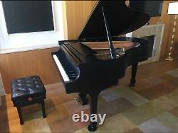 1988 Steinway Grand Piano Model L with Steinway Signature Ebony