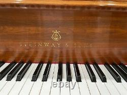 1996 Steinway Grand Piano Model M Louis XV Walnut