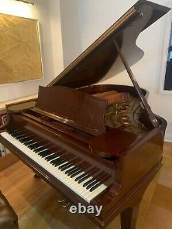 2001 Steinway Grand Piano Model L Crown Jewel Collection African Pommele