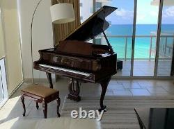 2002 Petrof Baby Grand Model IV Chippendale in High Polish Walnut