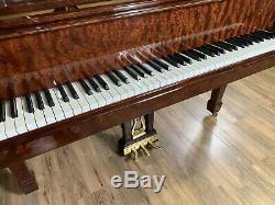 2004 Stunning Steinway & Sons Model L Crown Jewel Bubinga Grand Piano