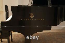 2010 Steinway Grand Piano Model D Ebony