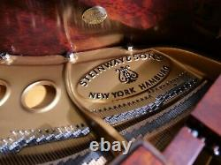 2017 Steinway & Sons Model M Crown Jewel Collection Kewasinga Bubinga Finish