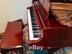 Beautiful Hepplewhite Cherry Steinway Baby Grand Piano, Model S