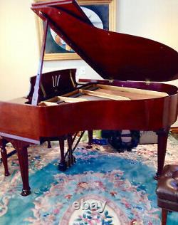Brilliant Steinway New York Grand Piano Model S, Hepplewhite Cherry
