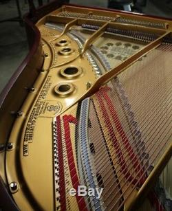 Exquisite Steinway Mahogany Grand Piano Model L VIDEO same as O betw M and A, B