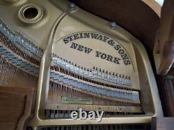 Glorious 1966 Steinway Grand Piano Model L, Walnut