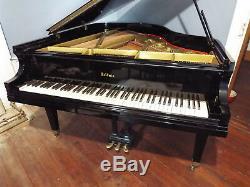 Grand Piano Baldwin 1953 model R. Beautifully restored original. Ebony. Black