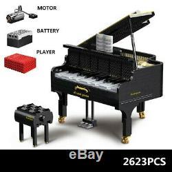 Grand Piano MOC 13192 Technic Building Blocks Bricks Bluetooth App Playable Gift