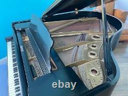 Mason & Hamlin Model A 5'8 Satin Ebony Black Grand Piano With Bench 1973 Great