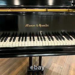 Mason & Hamlin Model A 5'8 Satin Ebony Grand Piano (with Bench, Warranty & More)