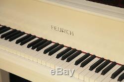 New, Feurich Model 161 baby grand piano. White. 5 year warranty