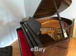 Petrof Model V Baby Grand Piano in Polished Walnut, one owner