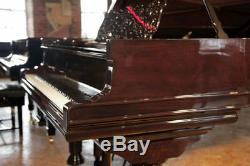 Rebuilt, 1886, Steinway Model D grand piano with a rosewood case
