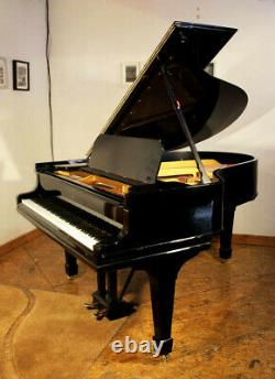 Rebuilt, 1909, Steinway Model O grand piano with a black case. 5 year warranty