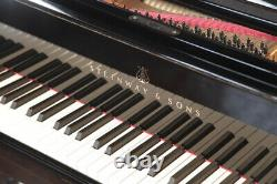 Rebuilt, 1923, Steinway Model O grand piano with a black case. 5 year warranty