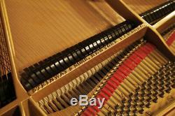 Restored, Art-Deco, 1932, Steinway Model M grand piano in maple and coromandel