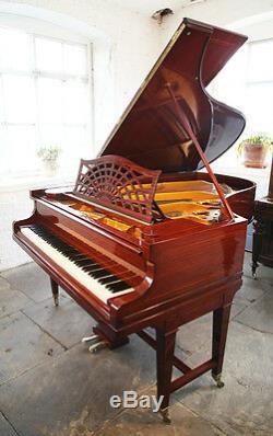 Restored, Bechstein model B grand piano. Mahogany, stringing inlay & gate legs