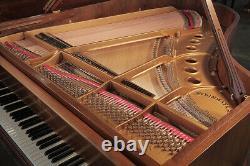 Rococo style, 1959, Steinway Model M grand piano in mahogany with cabriole legs