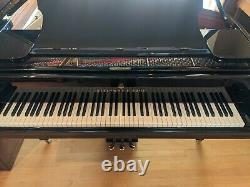 STEINWAY MODEL O New York 510.5 EBONY High Polish GRAND PIANO. Restored to new