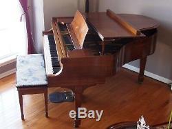 STEINWAY MODEL S BABY GRAND PIANO, 1935, beautiful mahogany finish