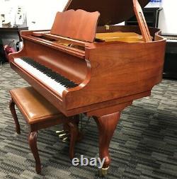 Samick 155 5'1 Grand Piano Picarzo Pianos Satin Cherry Model VIDEO