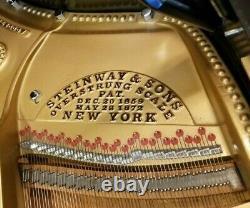 Steinway 1908 Model A Baby Grand Piano Ebony Refurbished