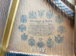 Steinway 1916 model O grand piano in mahogany with cd player system