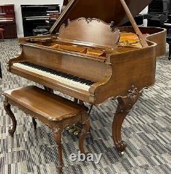 Steinway A 6'4 Grand Piano Picarzo Pianos Louis XV Satin Walnut Model VIDEO