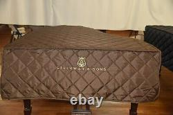 Steinway B Brown Lightweight Quilted Cover Front Steinway Logo Model B 6'101/2
