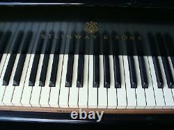 Steinway Baby Grand Piano Ebony Model 0, 1906 Quality Collectible Antique