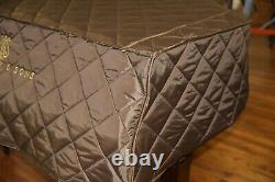 Steinway L Brown Lightweight Quilted Cover Front Steinway Logo Model L 5'10