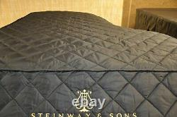 Steinway Lightweight Quilted Cover Model B Black Steinway Front & Side Logo Slit