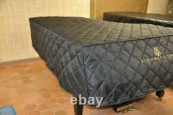 Steinway Lightweight Quilted Cover Steinway Front Logo, Model B 6' 10 1/2 Black
