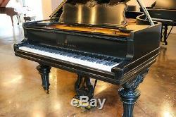 Steinway Model B Victorian Grand Piano Beautiful Ebony Lacquer Rebuilt