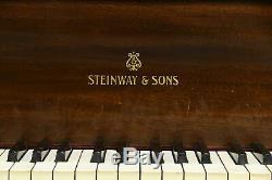 Steinway Model M 1923 Mahogany 5' 7 Grand Piano & Bench #32428