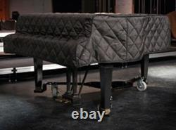 Steinway Quilted Grand Piano Cover For 8'11-3/4 Steinway Model D Black