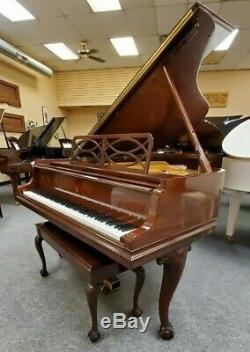 Steinway & Sons Model M 5'7 Chippendale Mahogany Grand Piano Mfg 1999