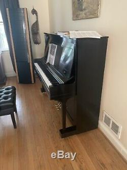 Steinway Upright Grand Piano Model K 52 Ebony Satin