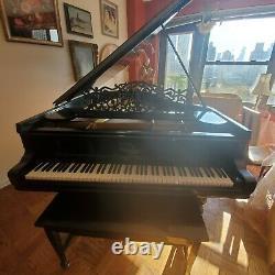 Steinway model A1 Grand Piano Polished Ebony Restored In Manhattan