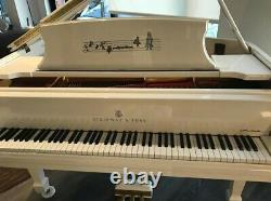 Sterling Silver John Lennon Extremely Limited Edition Steinway Model A in White