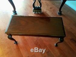 Superb Steinway & Sons Model M Chippendale Mahogany Grand Piano & Bench