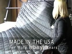 Yamaha Black Quilted Grand Piano Cover with Side Slits for 6'7 Model C5