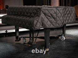 Yamaha Black Quilted Grand Piano Cover with Side Slits for 7'4 Model C7